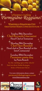 Parmigiano Reggiano vacche rosse a Londra, Christmas Westfield