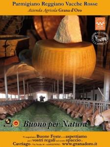 Buone Feste da Parmigiano Reggiano vacche rosse Grana d'Oro