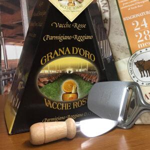 Coltellino Parmigiano Reggiano vacche rosse Grana d'Oro