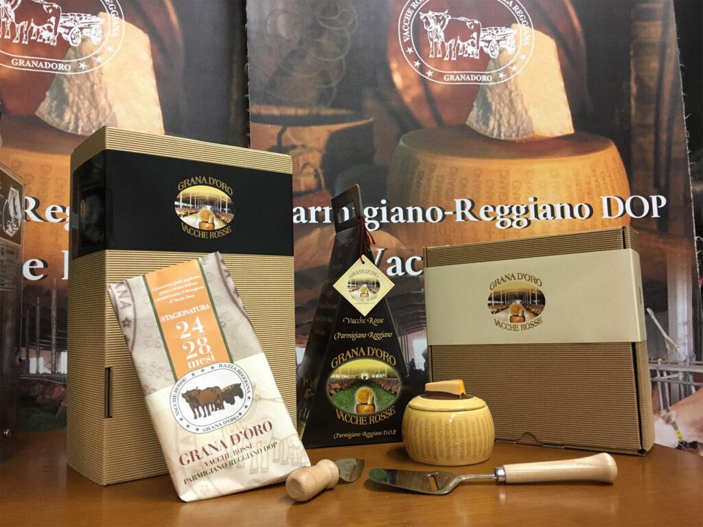 Scatole regalo Parmigiano Reggiano vacche rosse