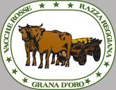 Grana d'Oro Parmigiano Reggiano vacche rosse logo