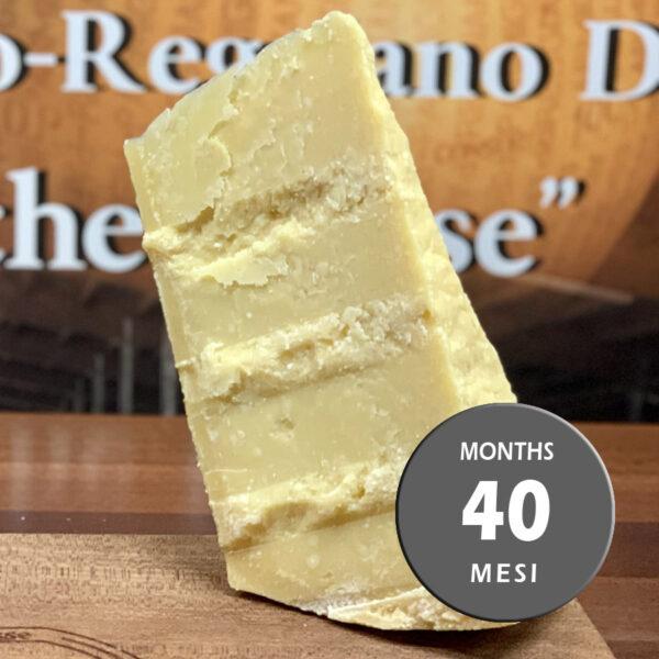 Parmigiano Reggiano vacche rosse Grana d'Oro stagionato 40 mesi riserva
